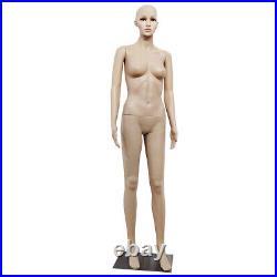 Female Mannequin Full Body PP Realistic Display Head Turns Dress Form Body Model