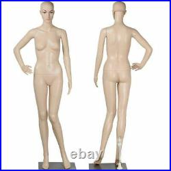 Female Mannequin Plastic Display Head Turns Dress Full Body Form with Base New