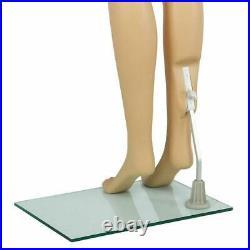Female Mannequin Plastic Full Body Display Head Turn Dress Form withBase Women 176