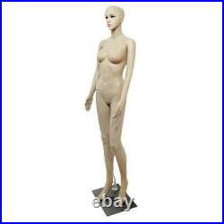 Female Mannequin Plastic Realistic Display Clothes Head Turns Dress Form with Base