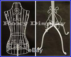 Female Metal Wire Body Form with Antique Metal Base #TY-XY2302W