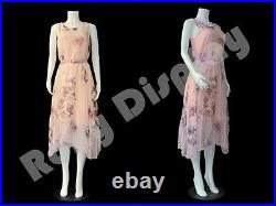 Female Plastic Unbreakable Mannequin Display Dress Form Display PS-957-04W