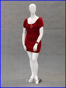 Female Plus Size Egg Head Mannequin Dress Form Display #MD-NANCYW2