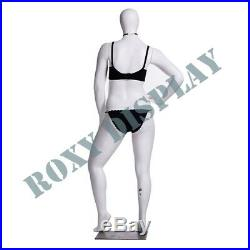 Female Plus Size Egg Head Mannequin Dress Form Display #MZ-F3D03W