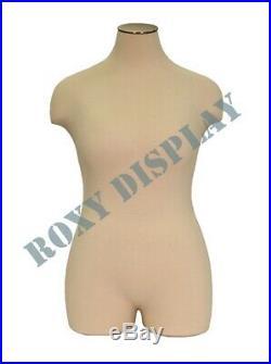 Female Plus Size Mannequin Manequin Manikin Body Dress Form #JF-FF2WPL+BS-WB02T