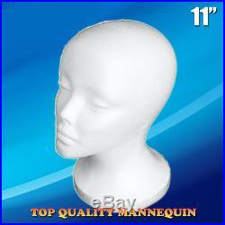 Female STYROFOAM FOAM MANNEQUIN MANIKIN head wig display hat glasses 11 12pc