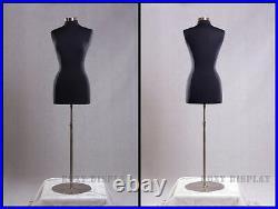 Female Size 10-12 Mannequin Manequin Manikin Dress Form #F10/12BK+BS-04