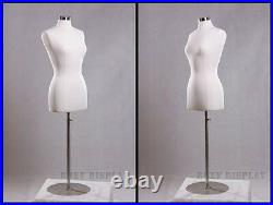 Female Size 6-8 Jersey Cover Body Form Mannequin Manikin Dress Form #F6/8W+BS-04