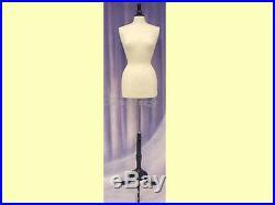 Female Size 6-8 Mannequin Manikin Dress Form #F6/8W+BS-02BKX