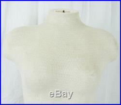 Female Torso Full Body Mannequin Hollow Cloth Covered Ivory Display Dress Form