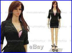 Female Unbreakable Plastic Mannequin Display Dress Form PS-G7+FREE Wig
