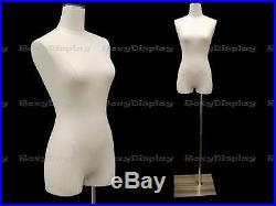 Female body form with Pure White linen cover #JF-F1WL+BS-05