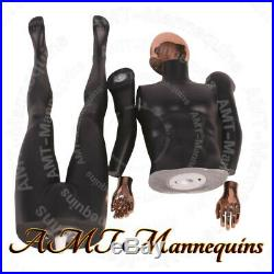 Female +male Full Body, High End Mannequins, Rose Golden Head Hands, Black Couple
