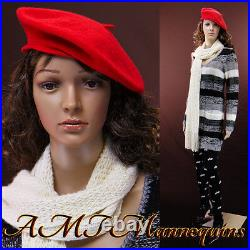 Female mannequin head and arms rotate, Realistic looking, Full body- Maddy+2Wigs