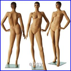 Female mannequin+stand, Hand made painted skin full body, realistic manikin IVY