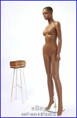 Female plastic mannequin durable, unbreakable dark African girl manikin- Tanya