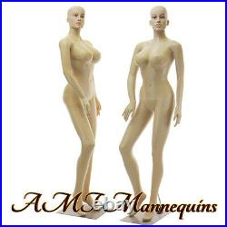 Female sexy mannequin+metal stand, Full body busty manikin-SP24+2Wigs