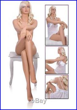 Fiberglass FEMALE Mannequin Manikin Dress Form Display COMPLETE DONNA