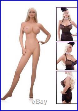 Fiberglass FEMALE Mannequin Manikin Dress Form Display COMPLETE IRMA