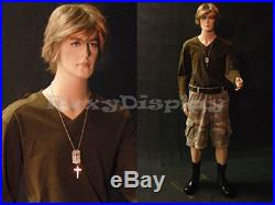 Fiberglass Male Dummy Mannequin Manikin Dress form Display Clothing #MD-BC8S