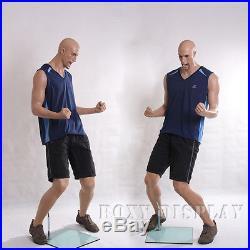 Fiberglass Male Sports Mannequin Manequin Manikin Dress Form Display #MZ-PW1