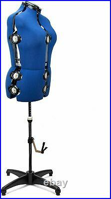 Free Shipping Adjustable Dress Form Sewing Display Female MannequinTorso Stand M