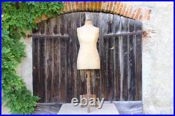 French Vintage Stockman Mannequin Dress Form Siegel Original Tailors Dummy
