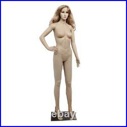 Full Body Female Mannequin Plastic Realistic Dress Display with Iron Base