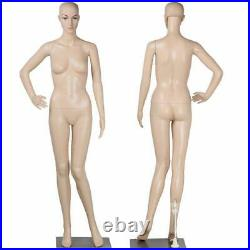 Full Body Female Mannequin with Base Plastic Realistic Display Head Turns Dress
