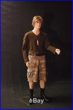 Full Body Male Mannequin with Movable Elbows (Short Version) Realistic with Base