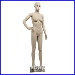 Full Body Realistic Female Mannequin Plastic Clothes Display with Base US SHIP