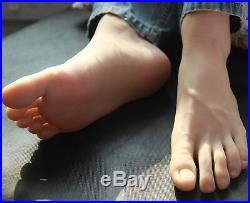 Full Silicone Male Silicone Fake Feet Model, Mannequin Shoes SIZE 44# A586