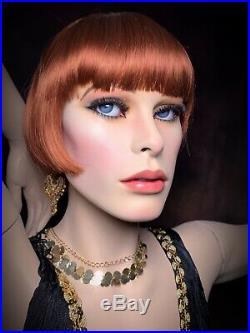 GRENEKER Mannequin Female Glass Eyes Teeth Dramatic Full Realistic Vintage