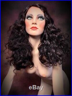 GRENEKER Mannequin Woman Female Wonder Leaning Glass Eyes Full Realistic Vintage