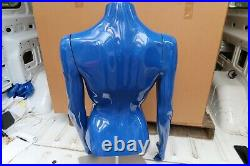 Greneker Mannequin BLUE FEMALE TORSO REMOVABLE ARMS FROM DISNEY PARKS W. BASE