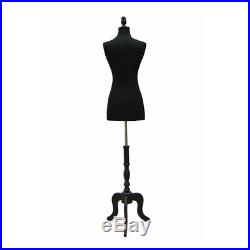 HIGH QUALITY! Size 2-4 Female Mannequin Dress Form+ Black Base #FWPB-4+BS-ATQ-BK