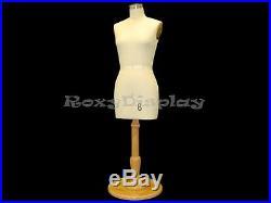 Half Scale Female Half Body Dress Form Table Top Display #SIZE8HALF-ST+BS-C06MNX