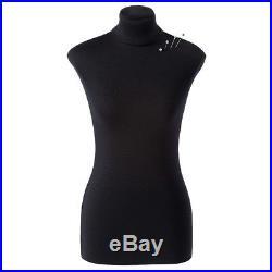 Half-scale Mini Basic Female Sewing Dress Form 12 Soft Tailor Mannequin Black