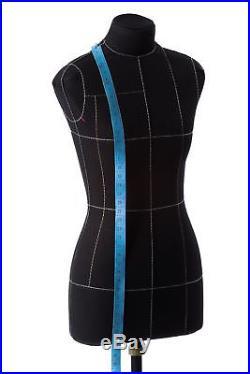 Half-scale Mini Premium Female Sewing Dress Form 12 Soft Tailor Mannequin Black