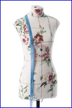 Half-scale Mini Premium Female Sewing Dress Form Soft Tailor Mannequin Floral