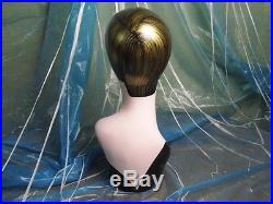Hand-painted vintage old-fashioned head mannequin for wig jewelry earing display
