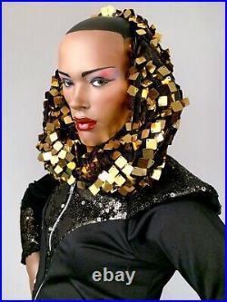 JOHN NISSEN Mannequin Grace Jones Black Androgynous Full Realistic Female Vtg