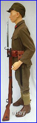Japanese Asian Military Mannequin, EXTRA SMALL Sizes, 5'6 Tall, Museum Quality