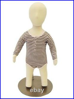 Kids 6 Month Old Flexible Full Body Mannequin Dress Form with Removable Head