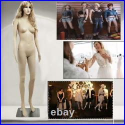 Ktaxon Full Body Female Mannequin With Base Plastic Realistic Display Head Turns D