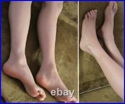 LIfelike Silicone Male Mannequin Long Leg Foot Model Shoes Display Model 1-Pair