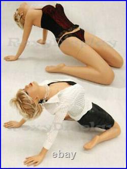 Lean back Female Fiberglass mannequin Fleshtone Dress Form Display #MD-MADONNA