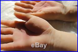 Lifelike clone 100% silicone male Mannequin Hand arbitrarily-bent soft Jewelery
