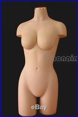 Lifesize Dummy/soft/Nude flesh Female Mannequin Torso Dress Form Display #05