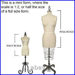 MN-182 Mini Half Scale Pinnable Female Dress Form (great for students!)